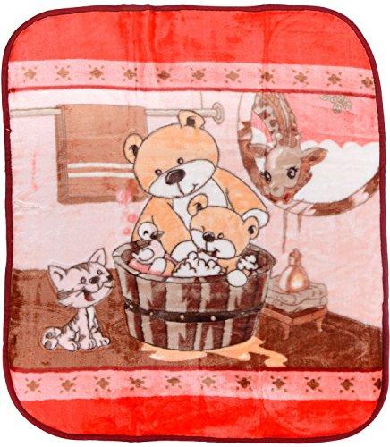 Love Bird Mink Baby Blanket (Cotton Socks Worth Rs.60 FREE)
