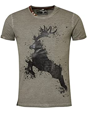 Marjo - Herren Trachten T-Shirt, M08 Splash (669100-020041)