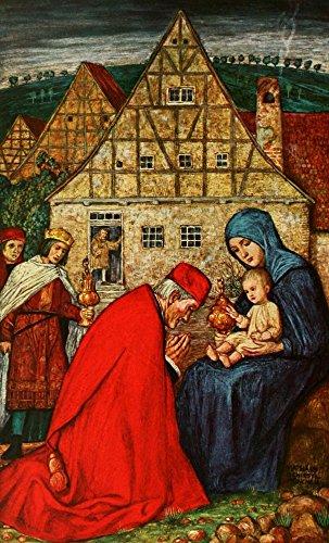 Matthaus Schiestl – Christliche Kunst 10 1913 Madonna & Child Kunstdruck (45,72...