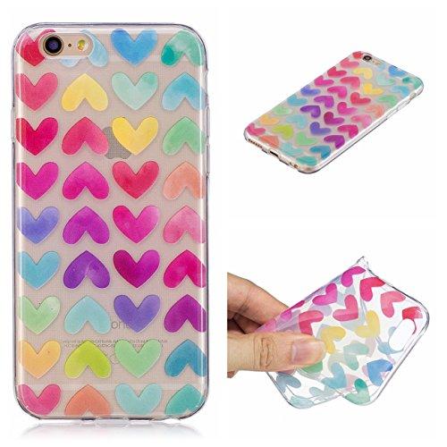 iPhone 6 4.7 Hülle, Voguecase Silikon Schutzhülle / Case / Cover / Hülle / TPU Gel Skin für Apple iPhone 6/6S 4.7(Rohr Katze 01) + Gratis Universal Eingabestift Bunt Herzen 11