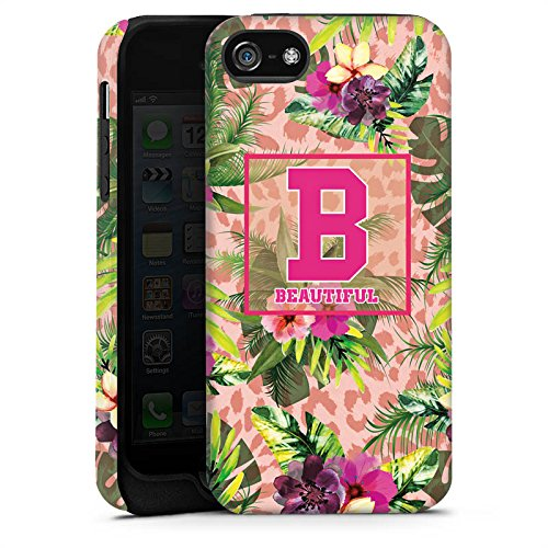 Apple iPhone X Silikon Hülle Case Schutzhülle College Beautiful Blumen Tough Case matt