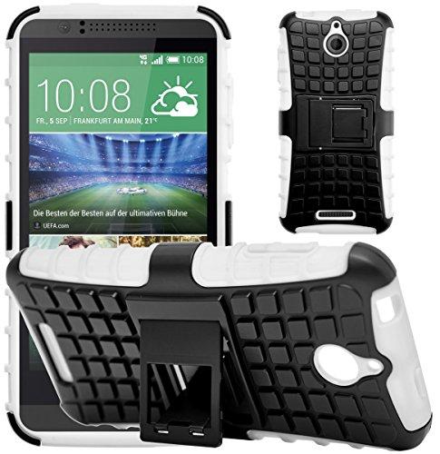 G-Shield Hülle für HTC Desire 510 Stoßfest Schutzhülle mit Ständer - Weiß (Htc Slim Desire Case Armor 510)