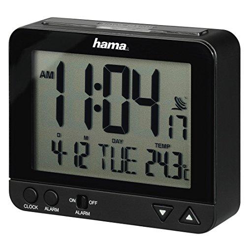 Hama Funk Wecker RC550 – sensorgesteuerte Nachtlichtfunktion, Schlummerfunktion, Temperatur- und Datumsanzeige - 9