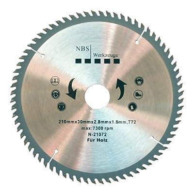 NBS Werkzeuge HM Hartmetall Kreissägeblatt 210 x 30 x 72 Zähne