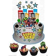 """Paw Patrol personnalisé 7,5 /""""Cake Topper Anniversaire Papier De Gaufrette Comestibles anniversaires"""