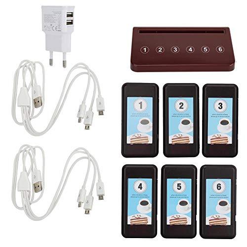 Drahtloses benennendes System, die Pager ,den Pagern Gast-Pager-System Gast-Paging-System 6 Empfänger-Pager und 1 PC-Tastatur-Anruf-Knopf, der Tastatur für Restaurant auflädt Paging-adapter