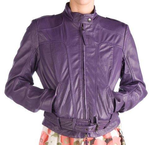 Redskins Viola in vera pelle giacca da motociclista Viola viola x-large