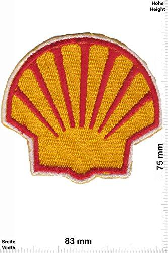 Patch - SHELL - rot gelb - BIG - Muschel - Motorsport - Ralley - Auto - Rennsport - Motorbike - Motorrad - Patches - Aufnäher Embleme Bügelbild Aufbügler