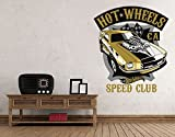 Klebefieber Wandtattoo Hot Wheels Speed Club B x H: 120cm x 137cm