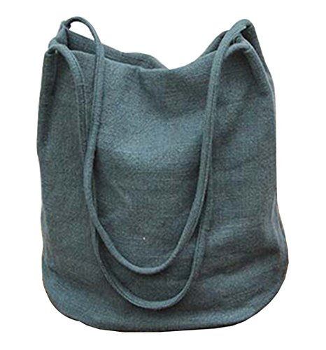 Ichic Boutique TM Damen Mädchen Eimer-förmigen Waschbar Dual Strap Einzel-Umhängetasche Messenger Bag Handtasche
