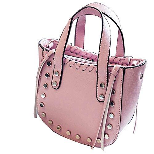 Gaorui Borsa Donna Ragazza Borsetta A Spalla A Mano Piccola 14*14*7 cm rosa
