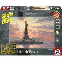 Schmidt-Spiele-Puzzle-59498-Thomas-Kinkade-Freiheitsstatue-in-der-Abenddmmerung-Glow-in-The-Dark-1000-Teile-bunt Schmidt Spiele Puzzle 59498 Thomas Kinkade, Freiheitsstatue in der Abenddämmerung, Glow in The Dark, 1000 Teile Puzzle, bunt -