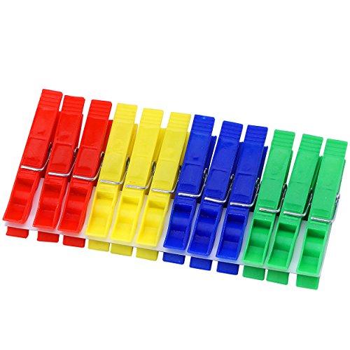 Protenrop 2671202 - Pinzas para tender, de plástico, 24 pinzas, color multicolor