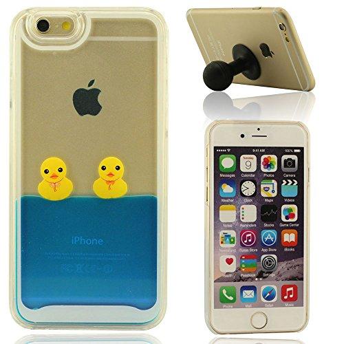 Schön Blau Flüssigkeit Hülle für IPhone 6 Plus, iPhone 6S Plus Hülle + Silikon-Gel-Haltewinkel, Rubber Duck Series D