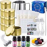 Asama DIY Candle Making Kit Supplies, Arts & Craft Tools Including Pouring Pot, Cotton Wicks, Beeswax, Ric