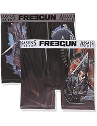 Freegun Assassins Creed Freegun Assasin Screed Packx2, Bóxer para Hombre