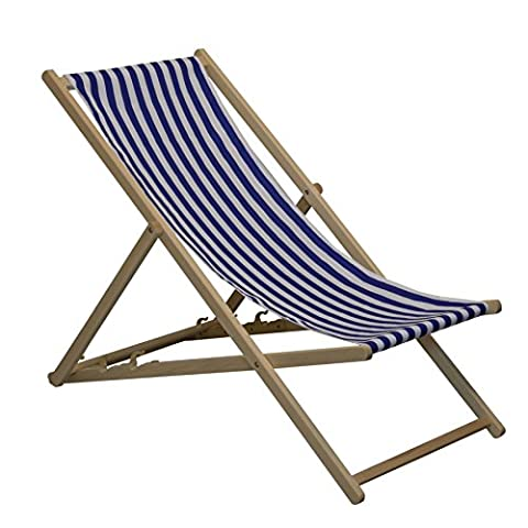 Chaise longue réglable traditionnelle pour le jardin / la plage
