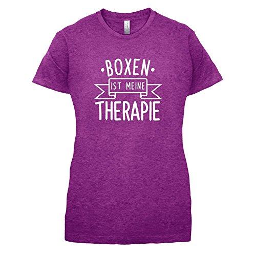 Boxen ist meine Therapie - Damen T-Shirt - 14 Farben Beere