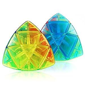 Zantec Cubo magico 3x3,cubo Pyraminx,Triangolo Puzzle Cube,Riducendo lo stress,idea regalo per i bambini,adulti e anziani