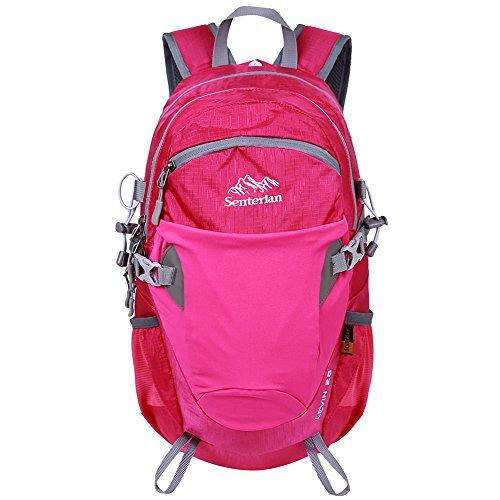 Imagen de egogo 25l resistente al agua  de senderismo al aire libre / senderismo  / bolsa  escalada deportiva morral con cubierta de lluvia s2986 rosa