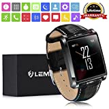 "LEMFO LF20 Bluetooth Smart Watches with 1.54"" IPS Screen MTK2502 Heart Rate Monitor"