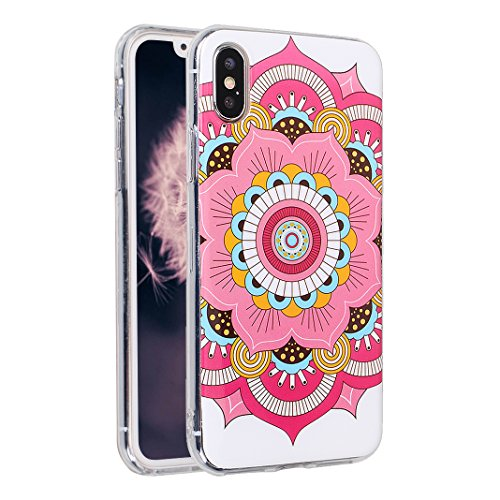 iPhone X Case, iPhone 10 Hülle Silikon, Moon mood® TPU Silikon Handyhülle Schutzhülle Case für Apple iPhone 10 X 5.8 Zoll Thin Dünn Weich TPU Schutz Etui Cover, Flexibel Silikon Case Cover Backcover S Muster 4