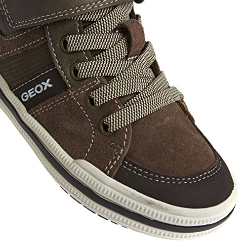 Geox Elvis D, Sneakers Hautes fille Dark Brown
