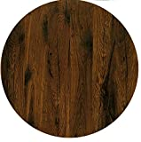 Werzalit / hochwertige Tischplatte/Eiche antik/Runde Form 70 cm/Bistrotisch / Bistrotische/Gartentisch / Gastronomie