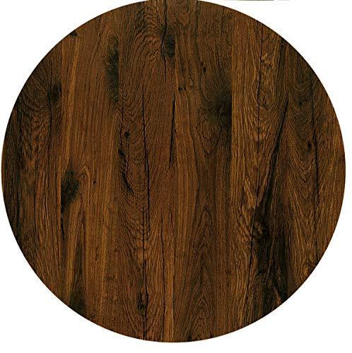 Werzalit / hochwertige Tischplatte/Eiche antik/runde Form 60 cm/Bistrotisch/Bistrotische/Gartentisch/Gastronomie -