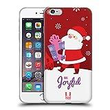 Head Case Designs Babbo Natale Decorazioni Natalizie Cover in Morbido Gel Compatibile con iPhone 6 Plus/iPhone 6s Plus