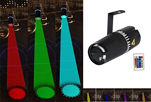 TOM LED 9W RGB 3-in-1 pin spot light mit gobo - bühne und licht durch infrarot fernbedienungen