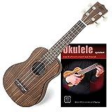 Classic Cantabile Soprano Ukulélé Noyer SET avec Ukulele Basics