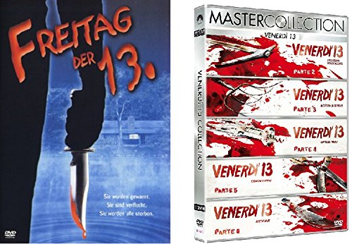 Freitag der 13te Teil 1-6 DVD Set, 13. Friday the 13th I & Box + deutsch und - 1 13 Freitag Teil Der