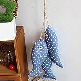 KESOTO Nautischer Stil Fisch Anhänger Hängedeko Fensterdeko Wanddeko mit Seil - #3