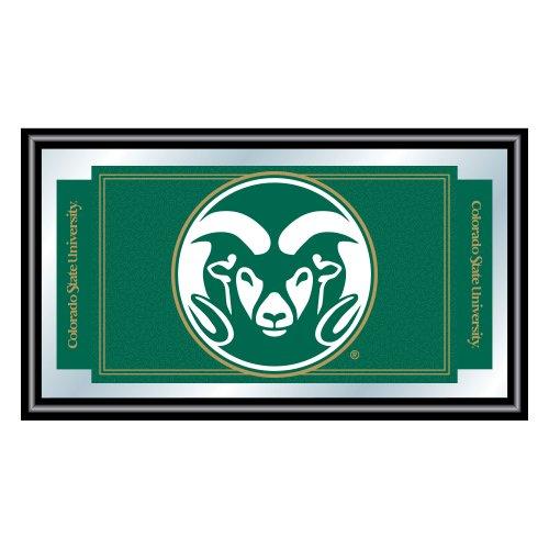 Trademark Gameroom NCAA Colorado State University Spiegel mit gerahmtem Logo - Colorado State University
