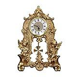 SESO UK- Dekorative dekorative Uhren des europäischen Retro- Tischuhr kreativen stillen Schreibtisches mit Einem Pendel für Wohnzimmer