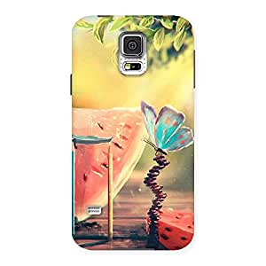 Neo World Watermelon Butterfly Back Case Cover for Samsung Galaxy S5