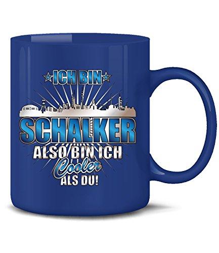 love-all-my-shirts Ich Bin Schalker 4619(Blau) Fussball Fan Artikel Tasse Kaffee Becher Pott Geburtstags Geschenk für Papa Ideen Tee mit Spruch Mug Cappuccino