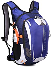 OUTDOOR LOCAL LION 18L Mochila Deportes al Aire Libre de Senderismo Excursion Multifuncional Ciclismo Mochila Impermeable de Nylon Para Unisex,Azul