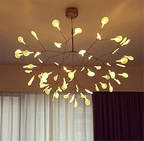 Lustres Lustre acrylique luciole LED branche café-bar Eclairage Lustres