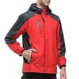 Herren/Damen Softshell Jacke Outdoor Funktionsjacke Kapuzenjacke Klettern Freizeitjacke Sportjacke Arbeitsjacke Rot XL