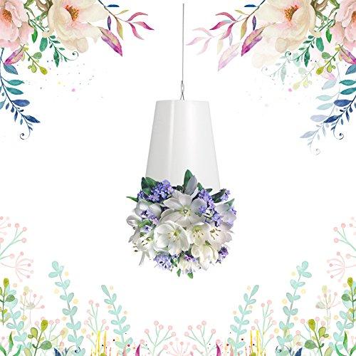 Yosoo Pot de Fleurs de Suspension Suspension Plante Porte Support Pot à Suspendre en Plastique Vase Décoration Balcon Jardin ( Couleur : Blanc )