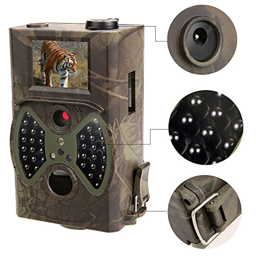 "Teamyy ATC-1201 Infrarot Wildkamera Trail Jagd Kamera Cam HD-Kamera mit integriertem 12MP Digital Game 2 ""LCD-Bildschirm (Camo Gr¨¹n)"