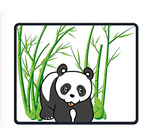 Panda Bear in Bamboo Forrest 8.66 X 7.09 Inch Computer Mouse Pad with Neoprene Backing and Jersey Surface