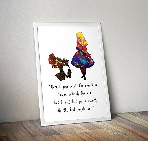 inspiriert Aquarell Poster - Zitat - Alternative TV/Movie Prints in verschiedenen Größen (Rahmen nicht im Lieferumfang enthalten) ()