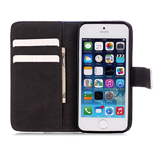 """MOONCASE iPhone 6S Coque, [Fleur Bear] Modèle Case Portefeuille [Porte-cartes] Housse en Cuir Etui à rabat avec Béquille pour iPhone 6 / 6S 4.7"""" Sunshine"""