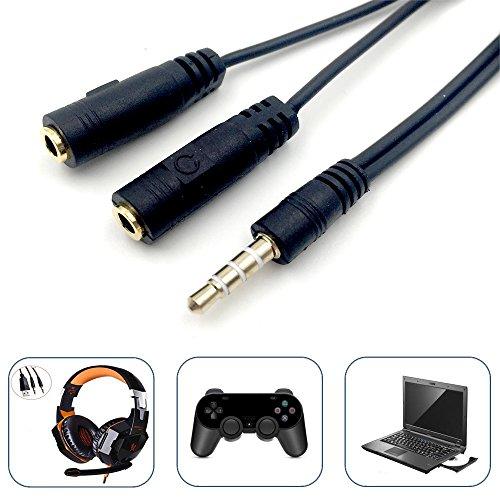 HIGEEK Sdoppiatore Splitter Microfono Cuffie 3.5 mm M1 F2 kotion gaming cuffie adattatore ps4, x360 xone windows portatile notebook doppio
