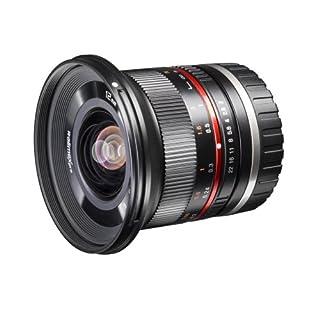 Walimex Pro 12 mm 1:2.0 CSC-Weitwinkelobjektiv (Filterdurchmesser 67 mm, mit abnehmbarer Gegenlichtblende) für Micro Four Thirds Objektivbajonett schwarz
