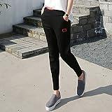 Jolie PU&PU Zeichen Modelle Fallen Sport Hosen weibliche Füße wei Hosen Casual Hosen e Harem Hose n Punkte Hosen Strahl, Black, l