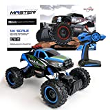 Maximum RC Ferngesteuertes Auto für Kinder - 4WD Monstertruck - XL RC Auto für Kinder ab 8 Jahren - Rock Crawler (Blau)
